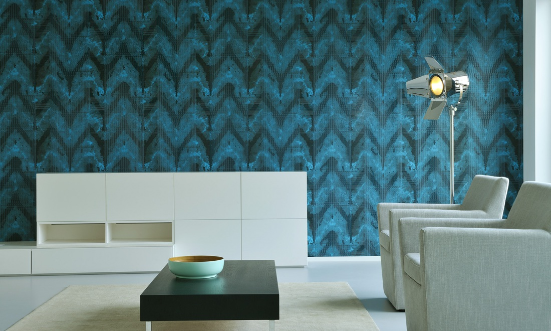 Halo | Shibori wallcovering inspired by tie-dyeing