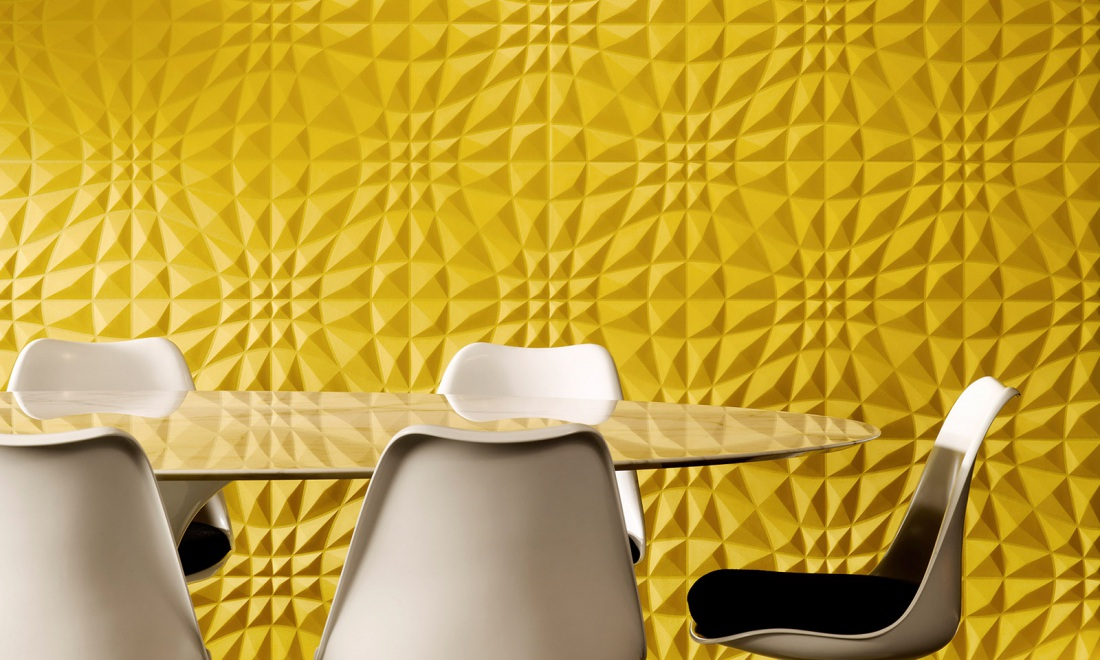 Enigma, an exquisite three-dimensional textile wallcovering ...