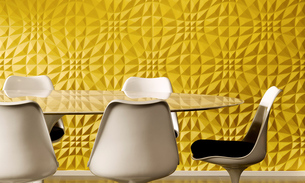 Flex | Enigma, an exquisite three-dimensional textile wallcovering ...