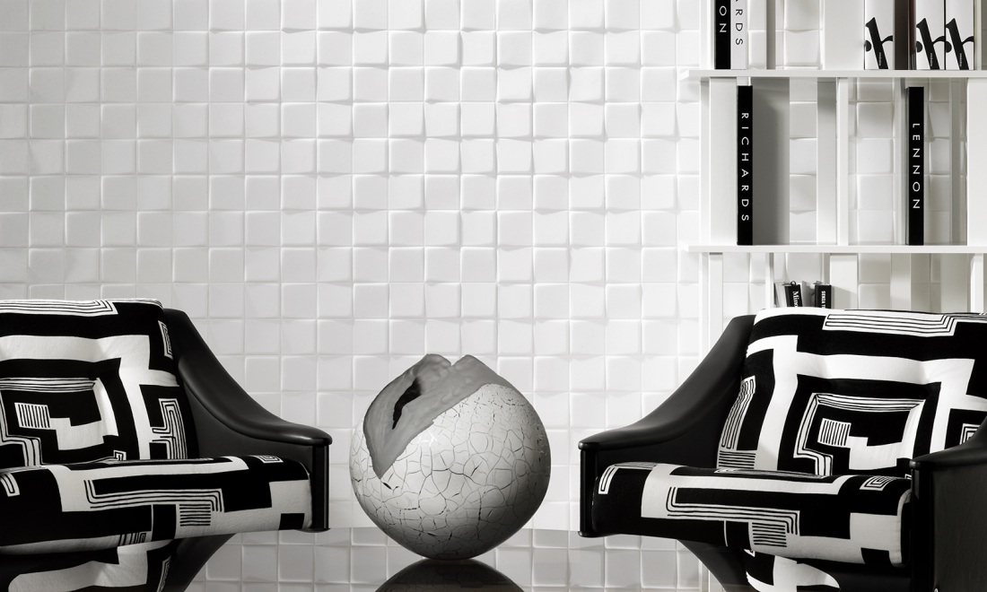Eclipse, a 3D textile wallcovering in black & white | Collections ...