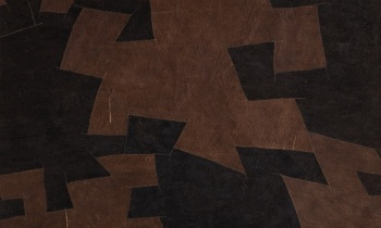 Bark Cloth black brown