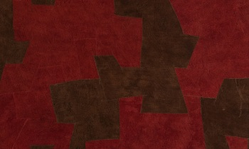 Bark Cloth red brown